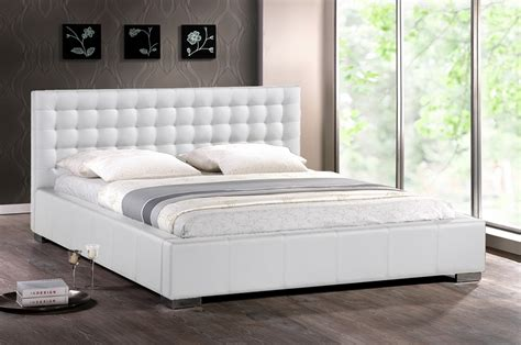 Dining Room Sets For Less by Baxton Studio Madison White Modern Bed With Upholstered
