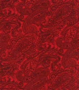 keepsake calico fabric paisley red jo ann