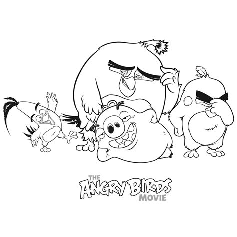 angry birds coloring pages chuck bomb leonard red en chuck coloring pages for kids