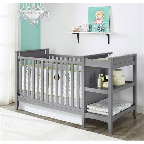 Grey Baby Cribs Baby Relax 2 In 1 Crib And Changing Table Combo Nursery Furniture Gray Ebay