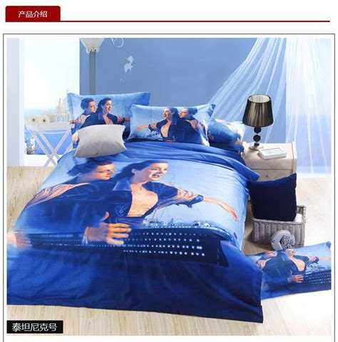 Bedcover 3d 3 In 1 180x200cm Femina 1 Set 3d blue titanic bedding set size sheets quilt doona duvet cover bedspreads bed in a