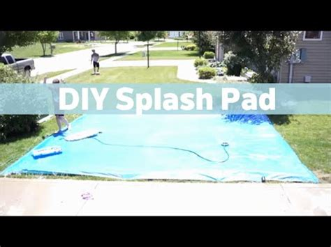 build your own backyard splash pad diy splash pad youtube