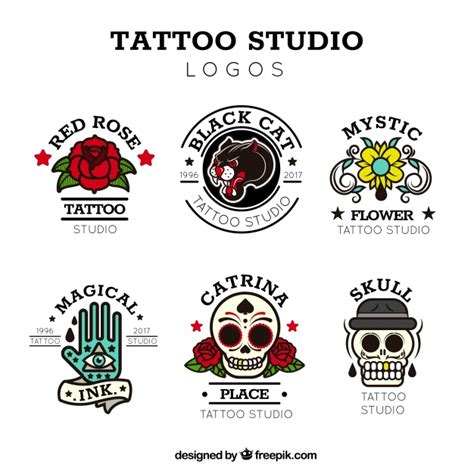 tattoo logo download vintage tattoo logo collection vector free download