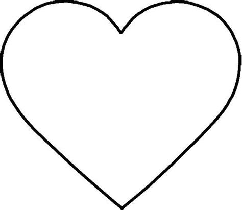 printable heart template large clipart best