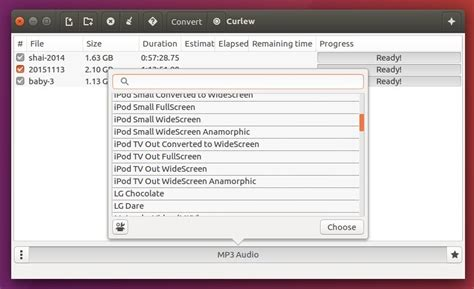 format video converter linux curlew a simple gtk3 video converter for linux