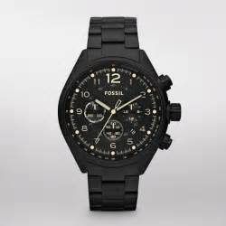 Home fossil fossil flight stainless steel watch black fossil