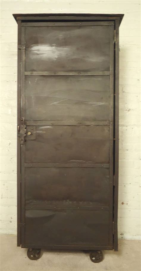 large metal storage cabinet for sale at 1stdibs