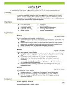 marketing cv exles cv templates livecareer