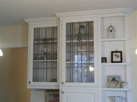 Kitchen Cabinet With Glass Door Stained Glass Kitchen Cabinet Doors Cabinet Door Panels Designed To Compliment Antique Window