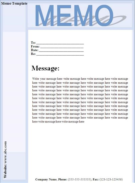 Memo Template Word 2013 business memo cover letter format