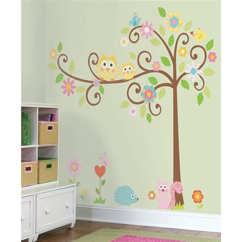 roommates rmk1439slm scroll tree peel stick wall decal