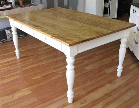 White And Wood Kitchen Table Wood Kitchen Table With White Legs Deductour