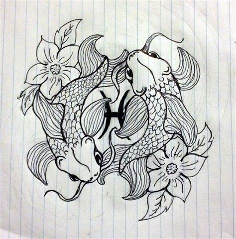 koi fish pisces symbol by skylersketches on deviantart