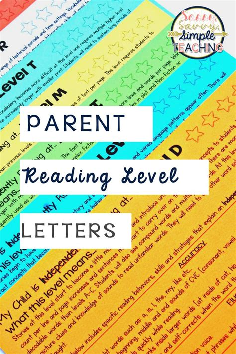 Parent Letter Reading Level 25 Best Ideas About Parent Letters On Letters For Parents Parent Contact Form And