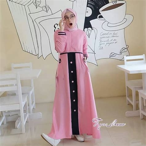 Tya Dress jual baju gamis hijabers modern tya dress murah