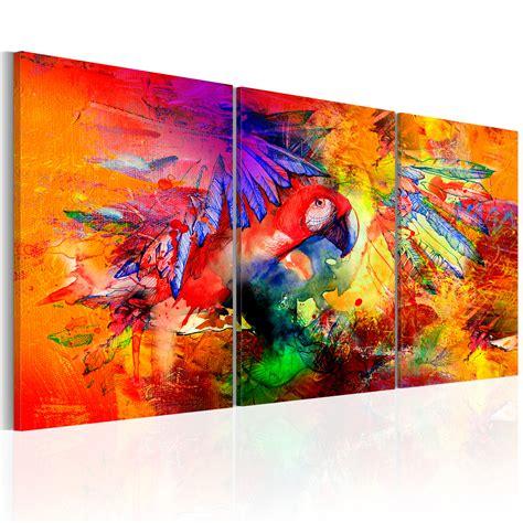 Bild Wohnzimmer Leinwand by Wandbilder Wohnzimmer Leinwand Bilder Abstrakt Papagei