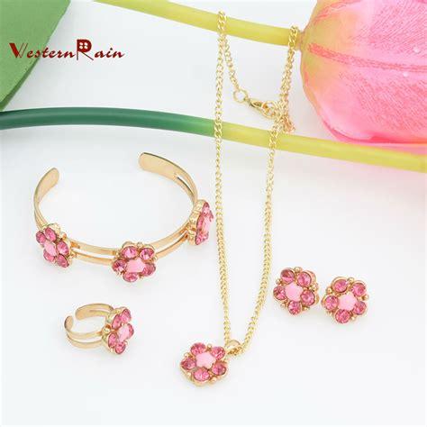 jewelry for children westernrain lovely pink green flower children