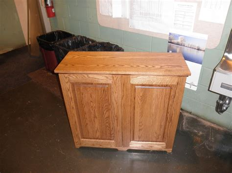 trash and recycling cabinet custom made 2 bin trash recycling cabinet by joey s