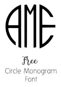 circle monogram font free download or use online