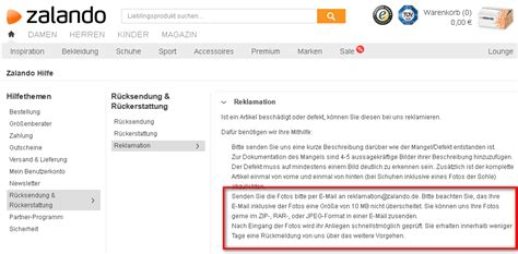Musterbrief Reklamation Defekte Ware Zalando So Funktioniert Die Reklamation Giga