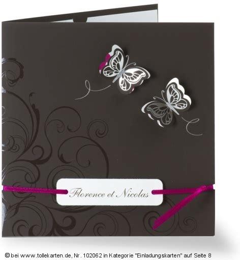 Einladungskarten Hochzeit Schmetterling by Hochzeit Einladungskarten