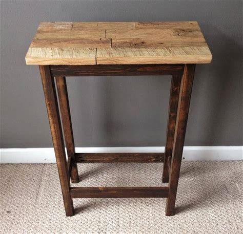 Pallet Side Table Salvaged Pallet Rustic Side Table Pallet Furniture Diy