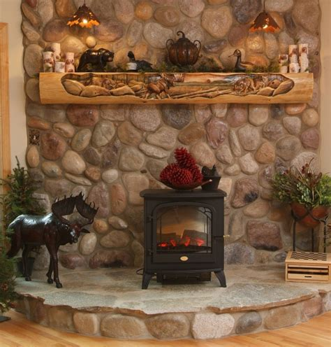 20 wood carving ideas for a rustic home decor cabin decor hand carved fireplace mantels juniper log