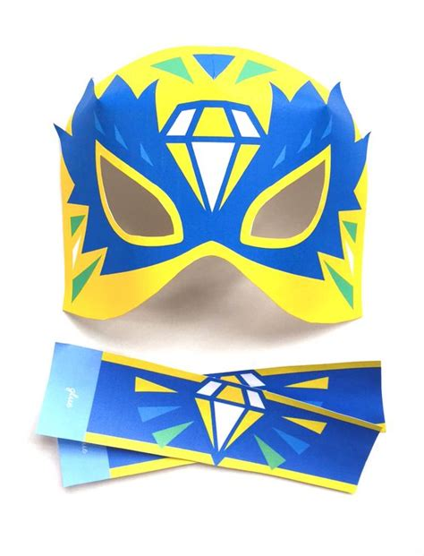 printable luchador masks lucha libre masks and 3d paper on pinterest