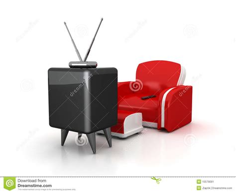 tv armchair tv and armchair stock image image 15579091