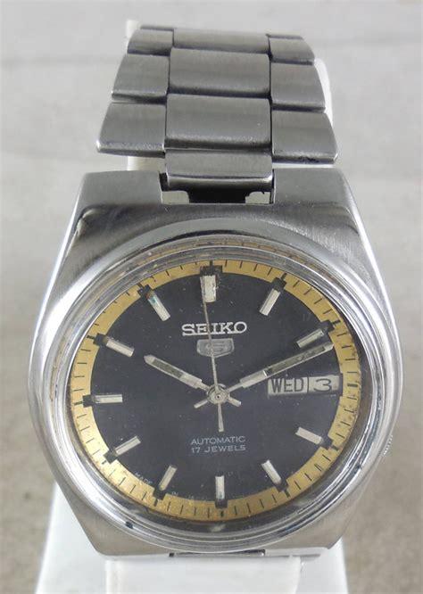 Seiko 5 Automatic Snk375k1 Original Original Vintage Seiko 5 Automatic 17j Japan 7009 3161 Running