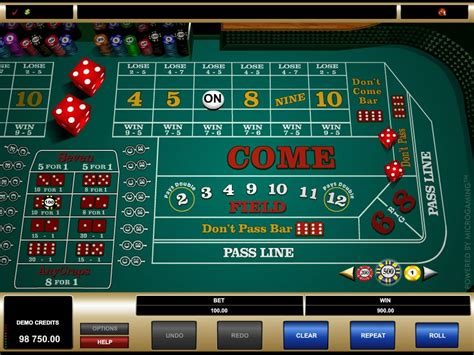 craps guide rules internet craps casinos  real money demo game