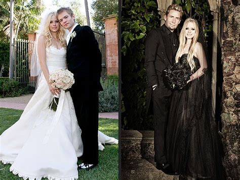 avril lavigne chad kroeger wedding avril lavigne s black wedding gown see the length