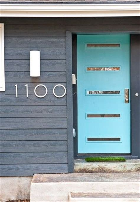 Exterior Door Numbers Front Door And Numbers House Decor Interior Exterior Design Aqua Home Decorating