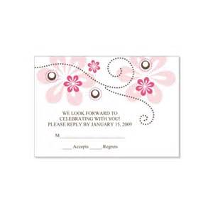 pink brown rsvp card templates fuschia do it yourself response cards