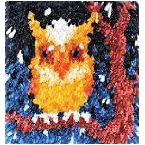 sted latch hook rug kits hoot latch hook kit for at weekend kits