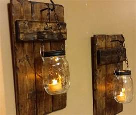 Home Decor Candle Holders by Hanging Candle Holders Rustic Home Decor Sconce Candle