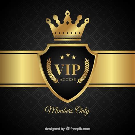 imagenes vip gratis elegante vip schild achtergrond met kroon vector gratis