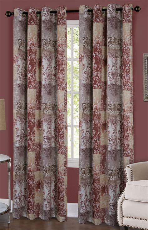 brown grommet curtain panels vogue grommet panel brown achim window treatments