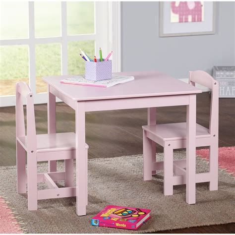 study small table  chair set generic  piece wood toddler kids furniture ebay