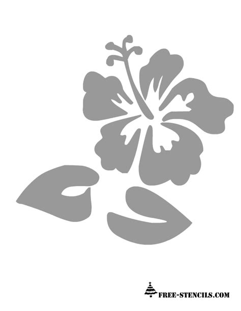 printable stencil designs flowers free printable wall stencils of flowers