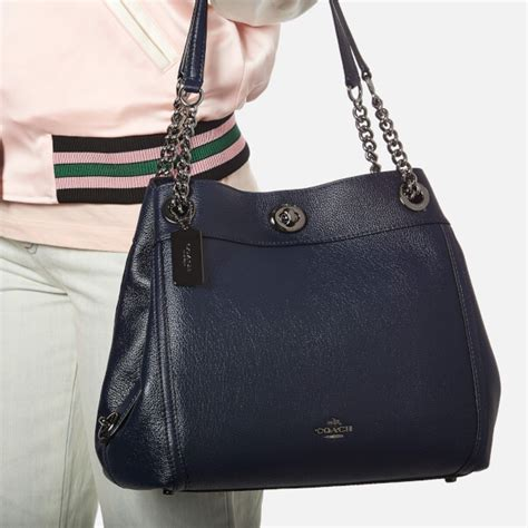 Coach Turnlock Bag by Coach S Turnlock Edie Shoulder Bag Navy Free Uk Delivery 163 50