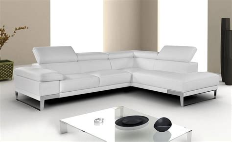 breathtaking white sectional with italian leather chicago