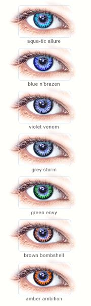 what would i look like with different colored hair splash of color vial contact lenses only available