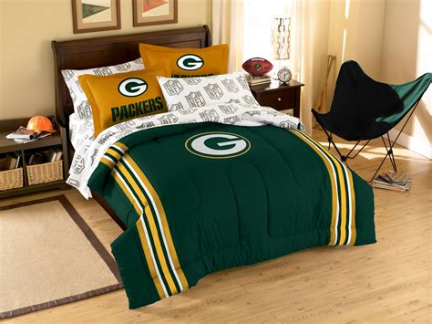 green bay packers comforter set nfl green bay packers football twin full bed comforter set