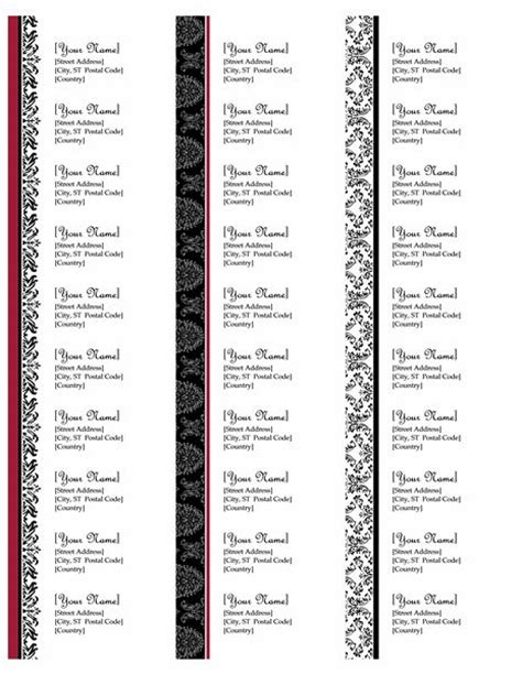 Return Address Labels Black And White Wedding Design Works With Avery 5160 30 Per Page Return Address Labels Template 30