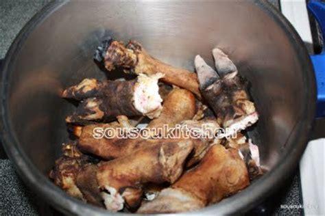 comment cuisiner les pieds de mouton recette de pattes de mouton sousoukitchen