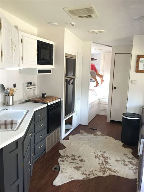 rv renovation 200 cer interior remodel diy travel trailers cer