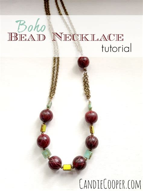 how to make boho jewelry how to make a boho bead and chain necklace candie cooper