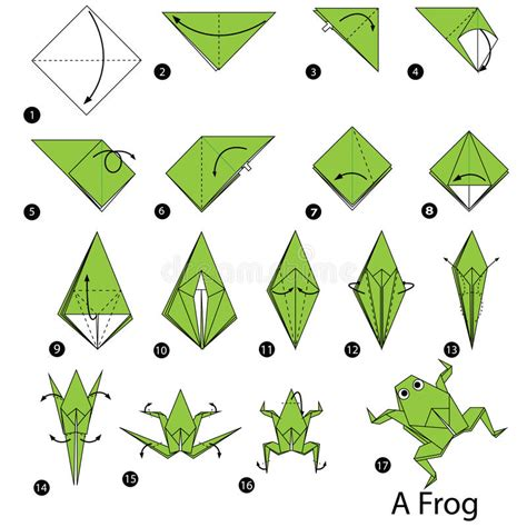 Steps To Make A Paper Frog - step by step how to make origami a frog