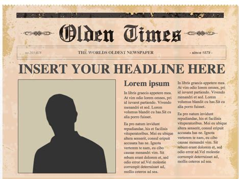 editable newspaper template editable powerpoint newspapers